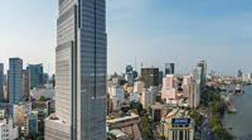 Dán decal trang trí noel cho tòa nhà Vietcombank Tower dịp lễ noel